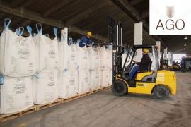 Mineral fertilizers, ammonium nitrate. Storage services