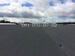 Roof repair, roofing work,laying ruberoid
