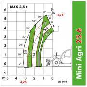 Telehandler Dieci Mini Agri 25.6